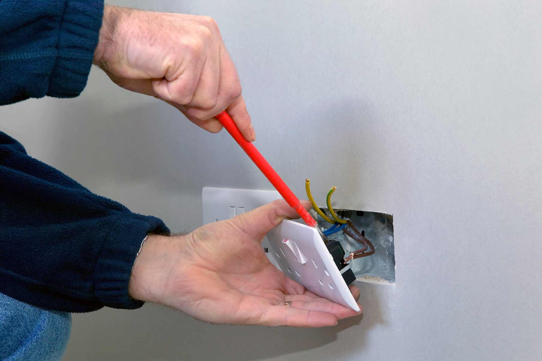 Our electricians can install plug sockets for domestic and commercial proeprties in Woodford and the local area.
